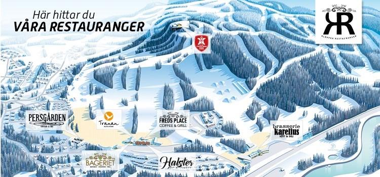 Restaurangkarta Klappen Ski Resort